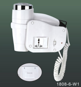 Wall Mounted Hair Dryer with All Purpose Socket 1808-6-W1