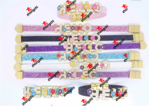 8mm PU Spark Glitter Leather Straps for Bracelets Gifts (SGL51111) pictures & photos