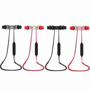 Metal Magnetic in-Ear Wireless Hands Free Headset Stereo Sport Bluetooth Headphone Earphone pictures & photos