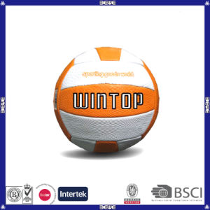 China Supplier Cheap Leather PU Volleyball pictures & photos