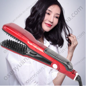 Electric Professional Magic Steam Hair Straightner Comb pictures & photos