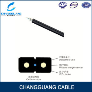Indoor GJXFH Bow-Type Drop G657A2 2 Core Fiber Optic Cable