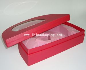 High Quality Arch Shape Semicircular Cosmetic Paper Box with Window