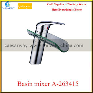 Sanitary Ware Bathroom Brass Waterfall Basin Faucet pictures & photos