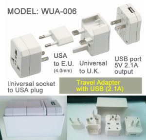 Wonpro Universal Adapter Kit with 2.1 a USB pictures & photos
