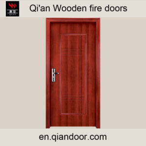 Veneered MDF HDF Wooden Fireproof Door pictures & photos