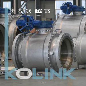 Stainless Steel Trunnion Mounted Ball Vale 3PC Gear Operation