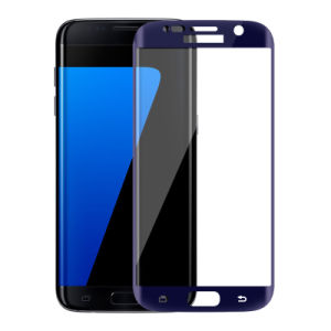 0.2mm 3D Blue Phone Glass Screen Protector for Samsung S7 Edge pictures & photos