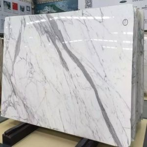 Polished Snow Flower White Marble Slabs for Wall / Flooring / Worktops pictures & photos