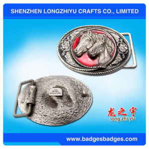 Custom High Quality Horse 3D Metal Belt Buckle pictures & photos