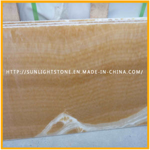 Yellow Polished Honey Onyx Marble Flooring/ Wall Tiles pictures & photos