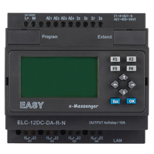 Ethernet PLC, Ideal Solution for Remote Control (ELC-12DC-DA-R-N-HMI) pictures & photos