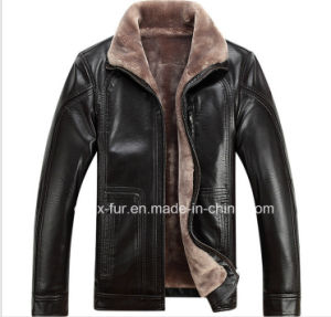 Factory Wholesale Men′s Leather Jacket with Cheap Price pictures & photos
