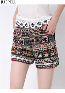 Summer New European and American Women′s Elastic Waist Lace Shorts Beach Pants Big Yards Loose Printed Pants OEM Factory pictures & photos