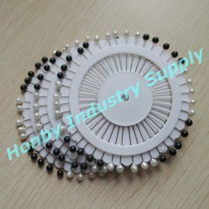 38mm Pearl Round Ball Head Corsage Pin for Hijab (P160114F) pictures & photos