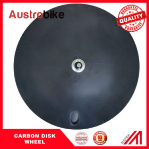 Matt Carbon Disc Wheel Carbon Clincher Disc Wheel Road Disk Wheel Single Speed Disk Wheel Carbon Wheel pictures & photos