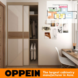 Oppein Hotel Two Sliding Door Small Wooden Wardrobe (OP15-HOUSE3) pictures & photos