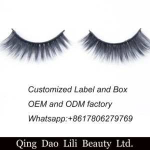 Water Proof Cosmetic Fake Eyelash, Natural 3D Silk Strip Lashes Private Label pictures & photos