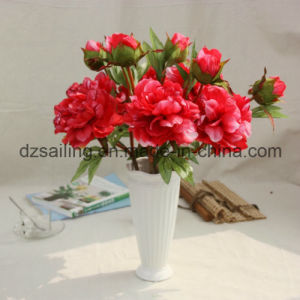Hand Feeling Coating Peony Artificial Flower for Home/Wedding Decoration (SF16043)
