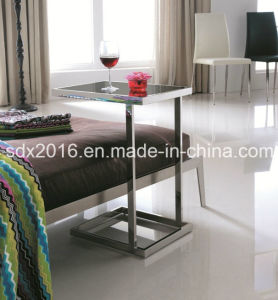 Modern Stainless Steel Glass Coffee Tea Table for Bedroom Furniture pictures & photos