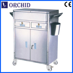 Stainless Steel Hospital Emergency Trolley (ST-III)