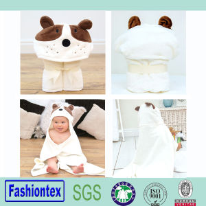 New Style Cotton Bathrobe Kids Poncho Bath Towel pictures & photos
