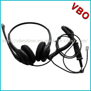 Noise-Cancelling Headphone Rj11 Rj9 Call Center Telephone Headset pictures & photos