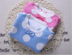 T1222 Baby DOT Long Sleeve Bow Knot Knitted Cotton Sweater pictures & photos