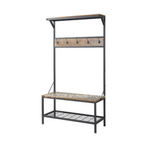 Entryway Metal Rack Coat Rack Shoes Rack with CE (G-HT10) pictures & photos