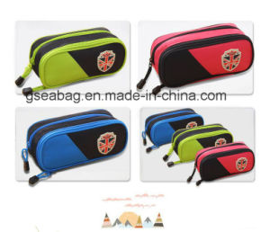 2017 New Design Fashion School Stationery Case Double Zipper Pencil Bag for Children (GB#30098) pictures & photos