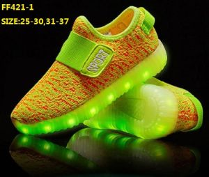 OEM Children USB Charging LED Sport Shoes (FF421-1) pictures & photos