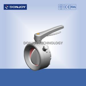 Mini Sanitary Welding Ss316L Manual Butterfly Valve pictures & photos