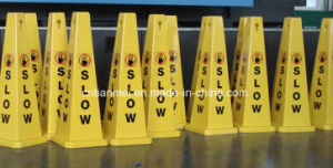 Factory PP Road Traffic Slow Cone Sign, Warning Caution Sign pictures & photos