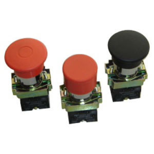Xb2-Bc42, 22mm 1nc Black Electrical Circuits Waterproof Mushroom Button Spring Return Switch