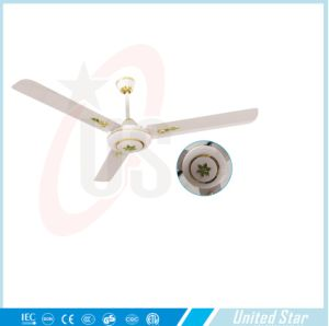 56′′celling Fan Solar DC Fan 5 Speed Remote Coutrol Sitting Room Cooling Fan pictures & photos