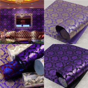 Popular 3D Flocking Fabric Wallpaper (JSL163-019)