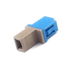 LC-Mu Hybrid Simplex Half Plastic Fiber Optic Adapter pictures & photos