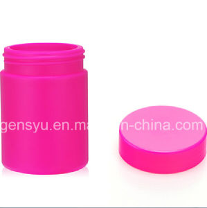 8oz HDPE Rose Red UV Glossy Plastic Bottle pictures & photos
