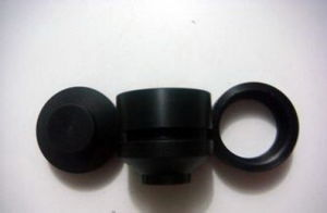 CNC Machining Black Anodized Billet Aluminium Shock Cap