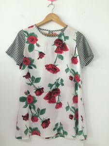 2016 Summer Styles Roses Positioned Printing T-Shirt Top