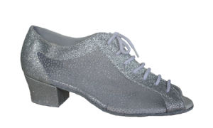 Women′s/Ladies Silver Open Toes Latin Practice Shoes pictures & photos