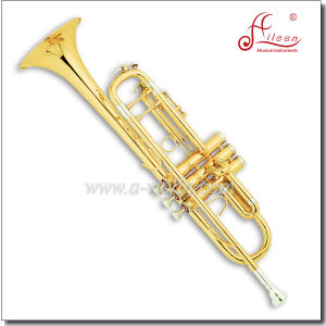 Gold Lacquer Bb Key Professional Trumpet pictures & photos