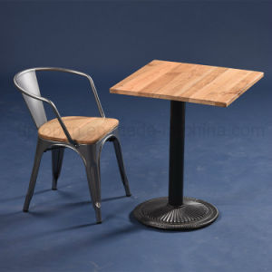 Industrial Square Solid Wood Cafe Table and Chair (SP-CT677) pictures & photos