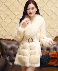 Women′s Winter Warm 100% Fox Fur Coat pictures & photos