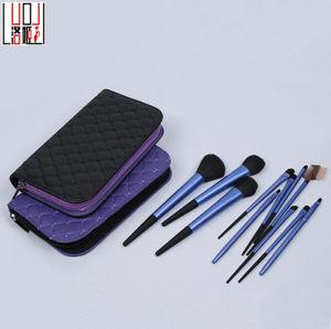 11PCS Light Blue Matte Cosmetic Tools Set Makeup Brush