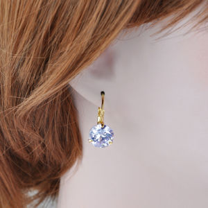 New Fashion Yellow Gold Plated Crystal Jewelry Earring for Girls pictures & photos