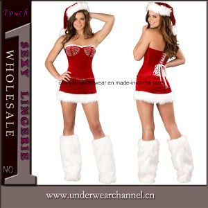 Wholesale Sexy Adult Party Santa Christmas Costume Fancy Dress (TDD80643) pictures & photos