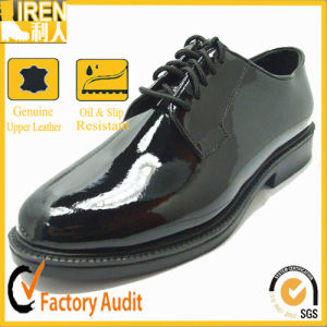Micro Fiber High Gloss Military Office Shoes pictures & photos