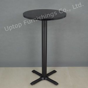 Black Modern Style Round Small High Bar Table (SP-BT676) pictures & photos