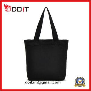 OEM Custom Logo Cotton Canvas Black Tote Bag pictures & photos